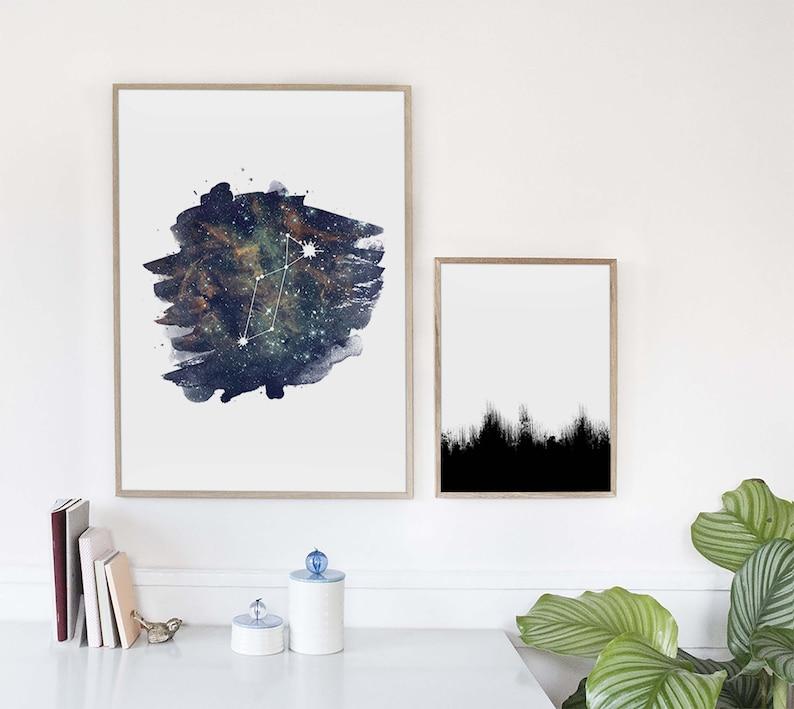 Astronmy Wall Art Space Art Poster Lyra Constellation Print