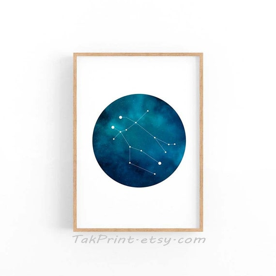 Wall Art Constellation Astrology Poster Astronomy Poster Zodiac Artwork Gift For Gemini Gmini Zodiac Print Gemini Zodiac Art Print