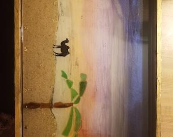 Decorative resin Arabian sunset serving tray