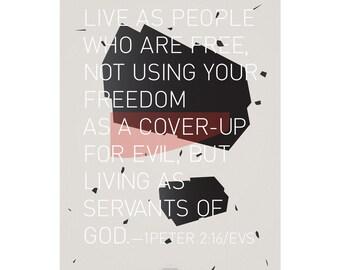 Abstract Art Series: Servants of God Poster/ Home decor prints, abstract art, wall art, art poster