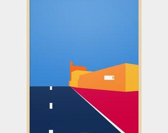 Landscape Art Series: Desert Highway Poster / Home decor prints / Illustration print / Abstract print poster / poster / posters