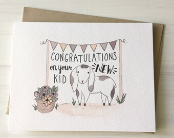 your new kid baby card expecting card pun card pregnancy card baby shower baby congratulations congratulations card baby congrats - Baby Congrats Card