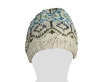 Handknit Fair Isle Wool Beanie