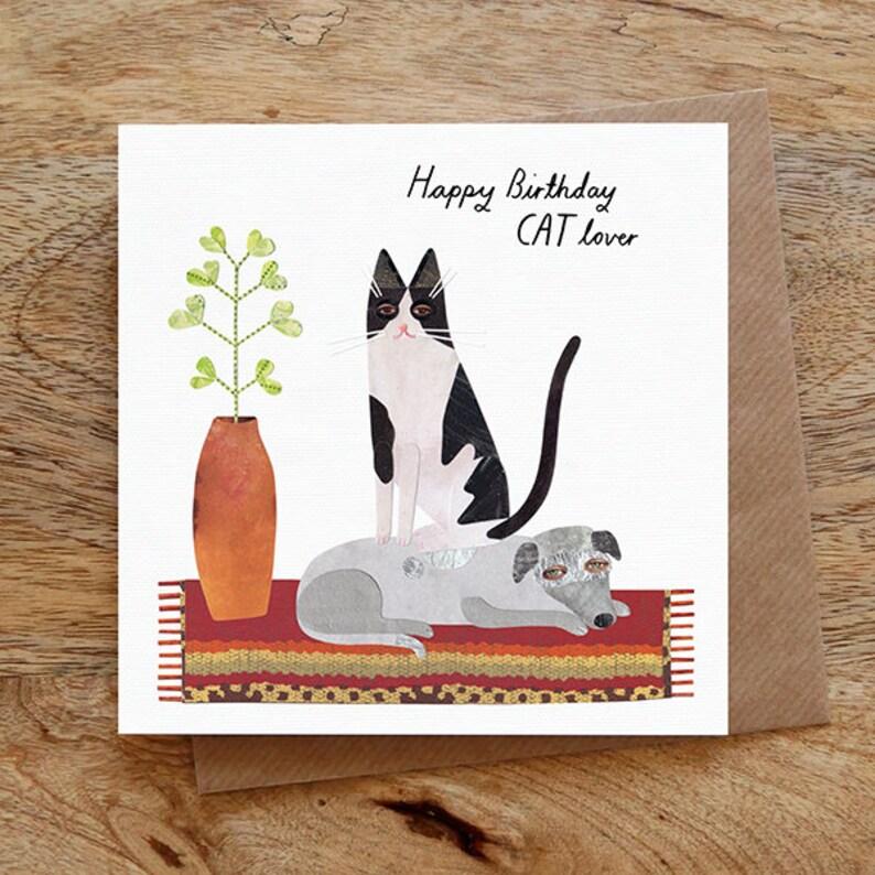 CAT BIRTHDAY Birthday Greeting Card Cat Lover Funny