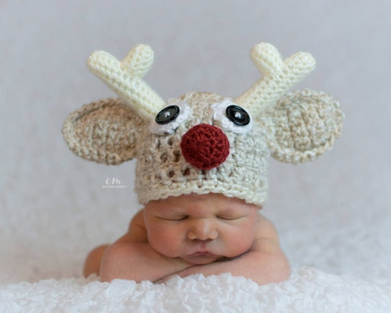 Baby Christmas Outfit - Rudolph Hat