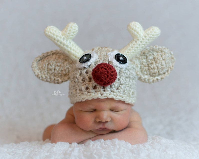 ea37789cb Baby Christmas Outfit Rudolph Hat Newborn Christmas Outfit