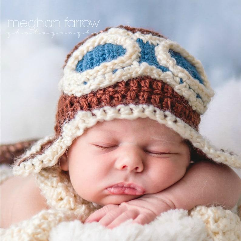 d6d36bdc9 Baby Aviator Hat Baby Pilot Hat Newborn Pilot Costume