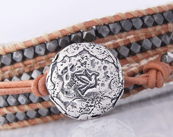 1 Sterling Silver Button Clasp for Wrap Bracelets, (BC2s) Best Jewelry Sterling Silver Supplies Wrap Bracelet Clasps, Silver Bracelet Button