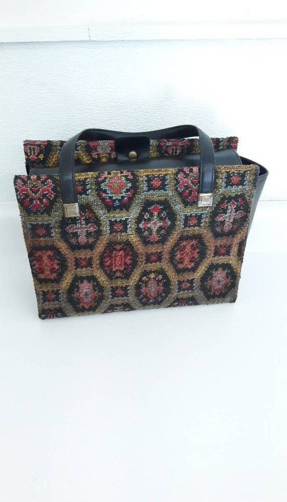 Vintage Doctors Tapestry Carpet Bag|Vintage Dr's B
