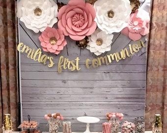 Big paper flower etsy paper flower backdrop nursery decor giant paper flowers wedding centerpiece mightylinksfo