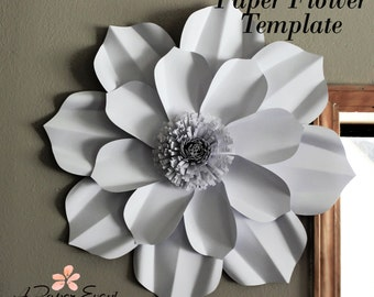 paper flowers template etsy