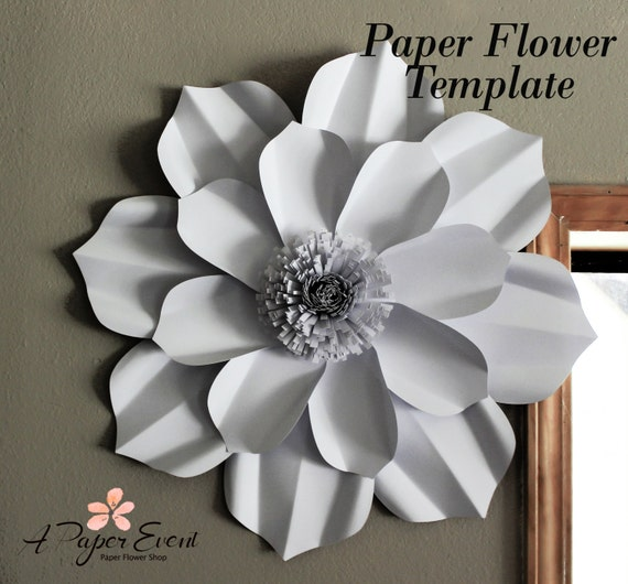 Paper Flower Template DIY Paper Flower DIY Backdrop Paper Etsy