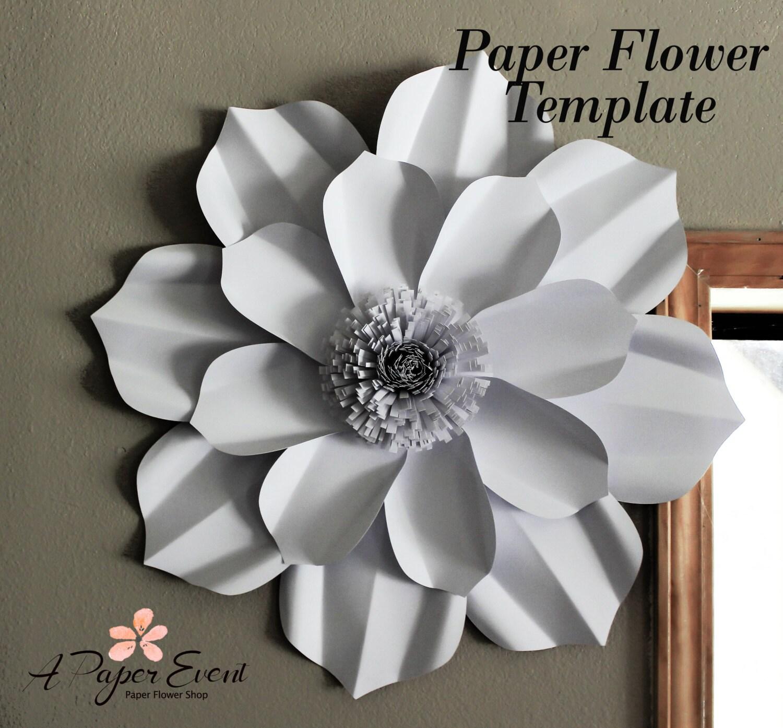 Paper Flower Template Diy Paper Flower Diy Backdrop Paper Etsy
