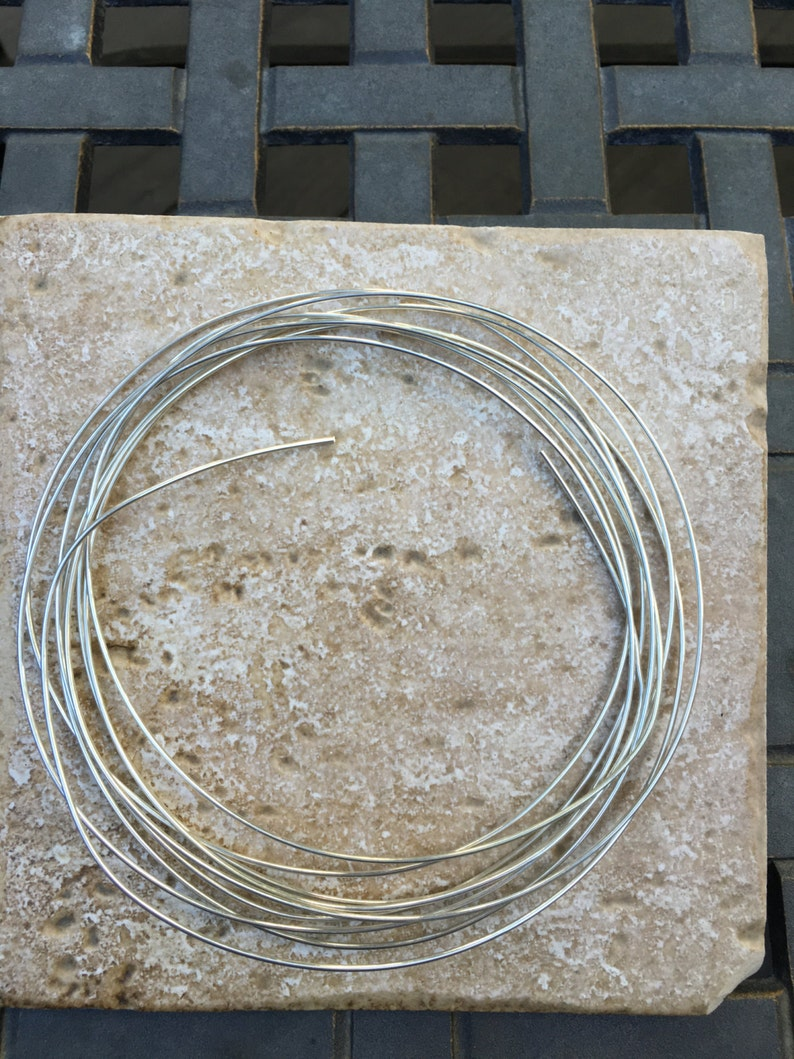 Half Hard Wire 16 gauge solid .925 Sterling Silver Wire HALF HARD wire perfect for wire wrapping G941 Sold in 10 foot pieces