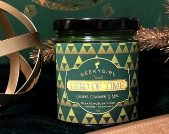 Hero of Time | Video Game Inspired Candle | Oakmoss, Cedarwood, & Musk