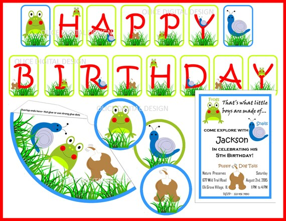Frogs Snails Puppy Dog Tails Frog Invitation Snails Banner