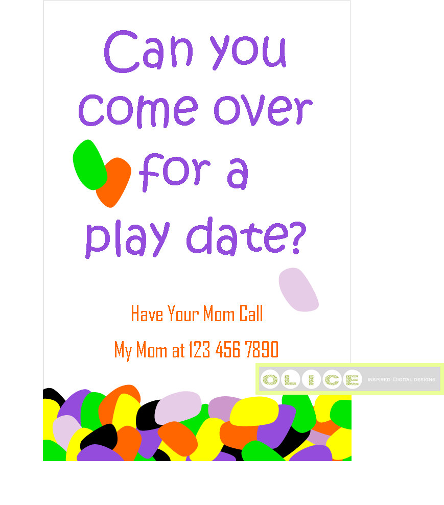 Play Date Card Play Date Invitation Cards School Playdate Etsy