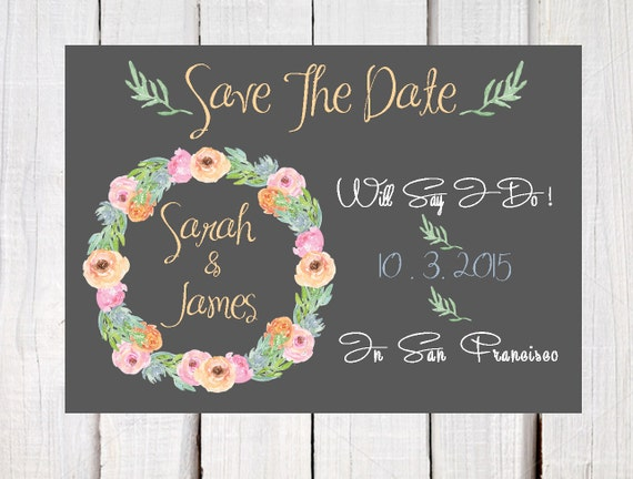 save the date wedding announcements party announcements