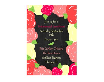 Bachelorette party invitation going away send off