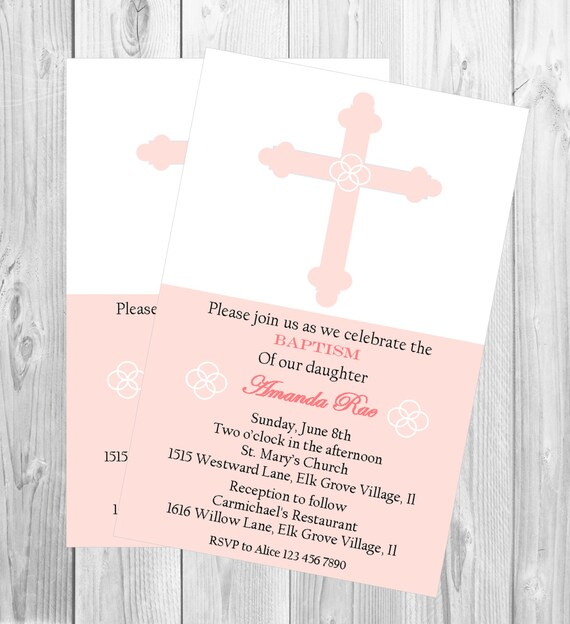 baby s christening invitation baby girl s baptism invitation first