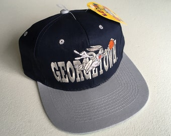 dd83a9b7b18 Georgetown University Basketball Bugs Bunny Thats All Folks Deadstock  Snapback Hat NWT