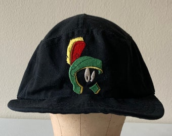 0e5a063d Marvin the Martian Acme Clothing Co. Biking Hat Black 1991 Made in USA