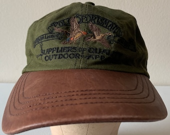 4f5c8e0b Ralph Lauren Polo Sportsman Suppliers of Quality Outdoor Apparel Vintage  Hat Leather Bill 90s Ducks
