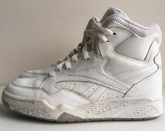 d516441ffea88 Reebok BB4600 Hi Top Basketball Shoes 1980s size 7.5 White and Gray