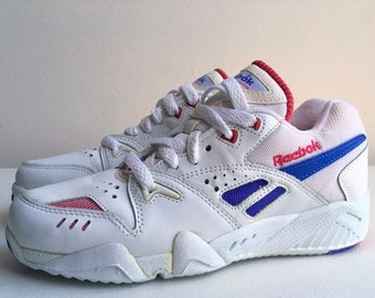 4e9764a02081 Reebok Cross Training Shoes Finesse Aztrek 90 s White Purple Pink Size 6.5