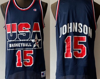 d67399d2f054e Champion Magic Johnson Dream Team USA Olympic Basketball Jersey #15 90's  size 44