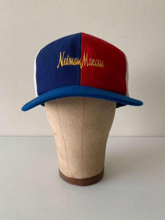 Neiman Marcus Vintage Snapback Hat Red White Blue