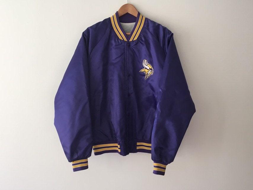 Minnesota Vikings violet et or Satin Bomber veste années années années 80 919511