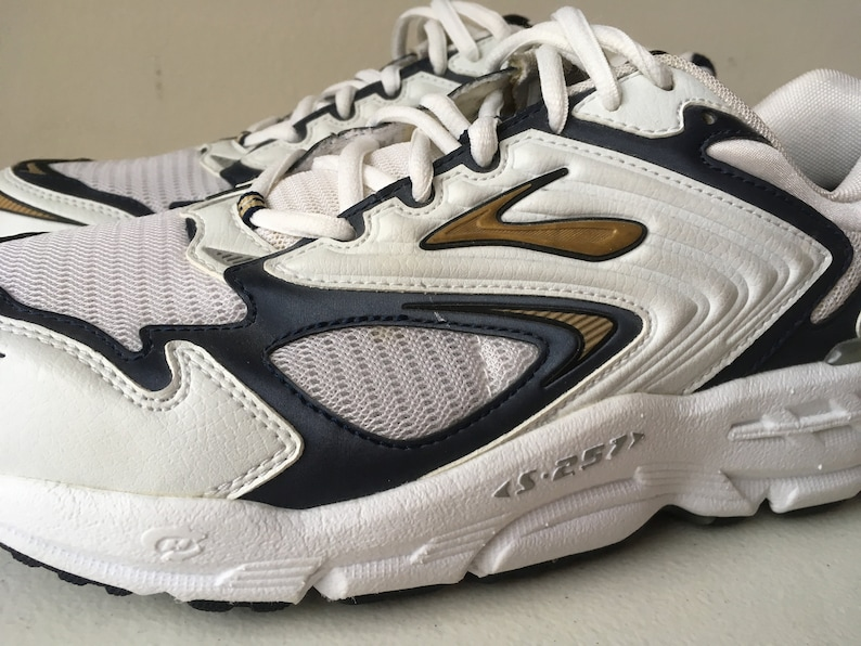 0244f4367e8 Brooks Beast s-257 Running Shoes White Blue Gold Hydro Flow