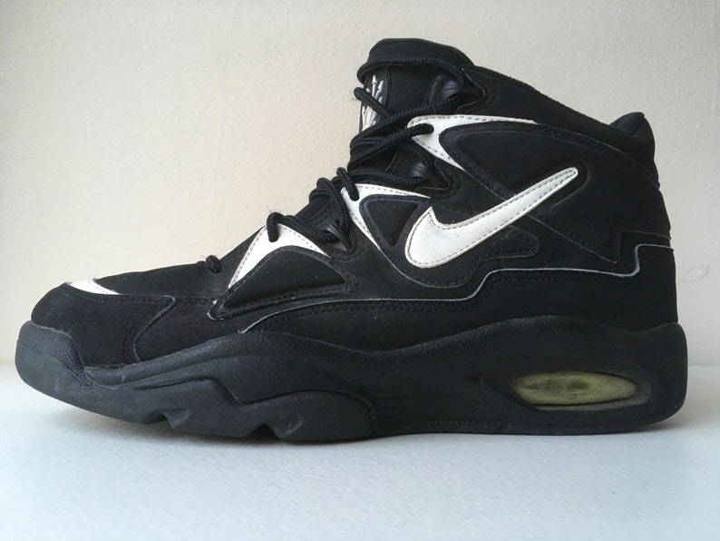 ed2bd31eb7 Nike Air Uptempo 1994 Black White Basketball Shoes size 10 | Etsy
