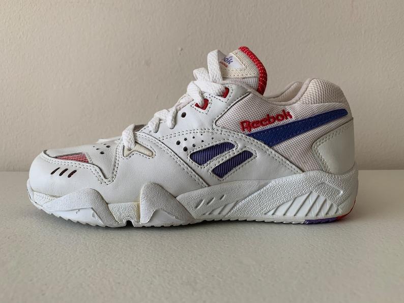 27d75b3712 Reebok Satellite Cross Training Shoes Finesse Aztrek 90's White Purple Pink  Size 6.5 1992
