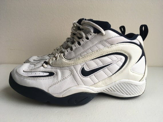 online store b8e72 fb6ae Nike Air Flight Basketball Shoes 1998 White and Blue size 8.5   Etsy