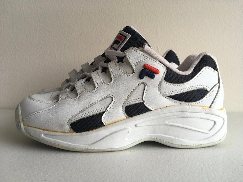 Fila Sneaker Schuhe 90er Größe 6,5 weiß blau rot 1996