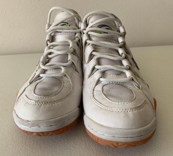 Nike Air Boho Lite volleybal schoenen wit blauw Neon groen maat 8 1995 90's