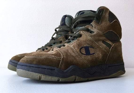 55073172494 Champion Hi Top Basketball Shoes Outdoor 90 s 8.5 Brown