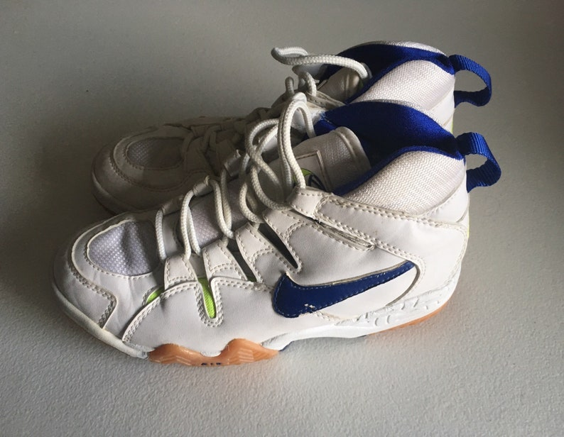 hot sale online e6d98 6340a Nike Air Bohemian Lite Volleyball Shoes White Blue Neon Gree