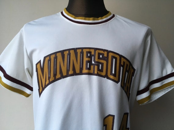 hot sale online 7280c d8e4e University of Minnesota Gophers Baseball Jersey #14 King O'Shea Made in USA  1960's size 40