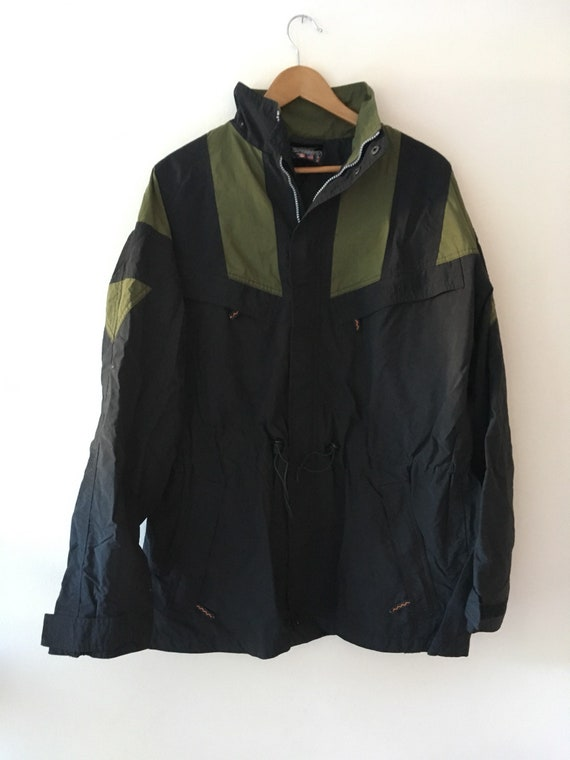 Adidas EQT Parka Jacket Coat 90's Black Green Large