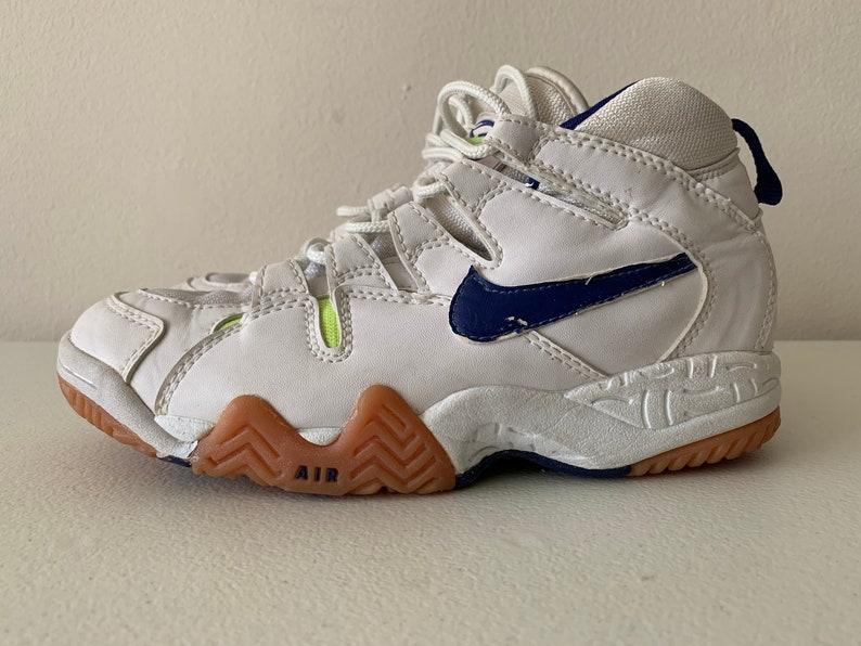 Nike Air Boho Lite Volleyballschuhe weiß blau Neongrün Größe 8 1995 90