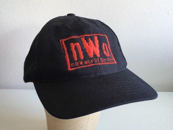 NWO New World Order Sting Snapback Hat 90's Black