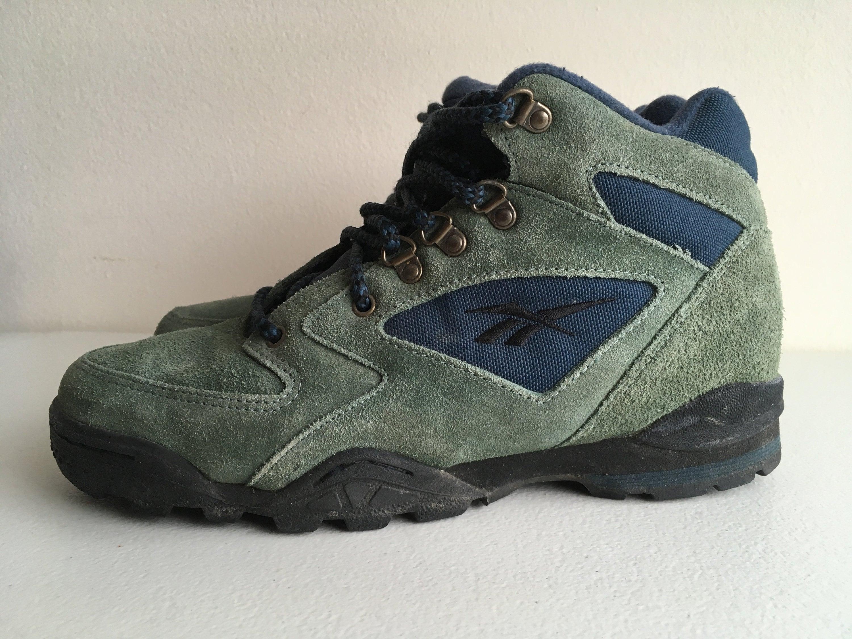 Reebok Hexalite Hiking Boots Shoes Green Blue size 9.5  54db3b046