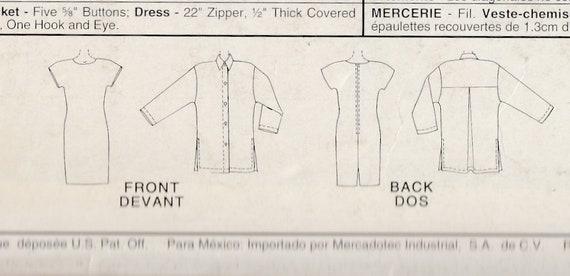 Womens Shirt Jacket Dress Mccalls Sewing Pattern Etsy