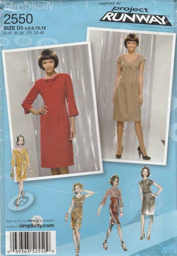 Project Runway Sewing Pattern Womens Dress Dress Etsy