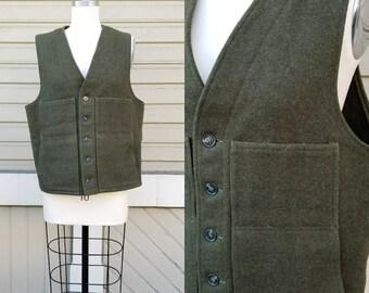 Vintage CC Filson green wool vest Men's / Medium Large