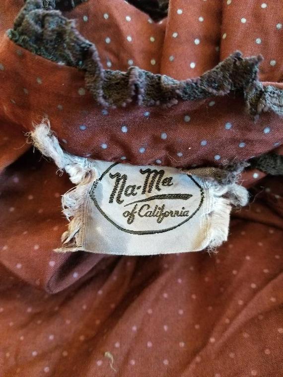 Vintage 70s wine prairie blouse - as is - image 8