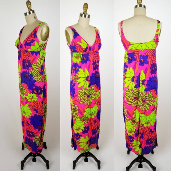 Vintage 60s Catalina pink floral swimsuit cover up